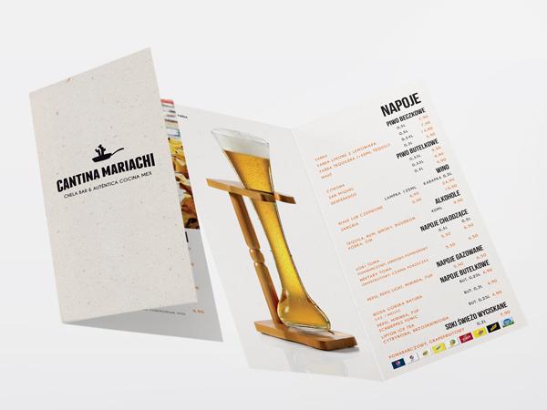 Projekt menu Cantina Mariachi