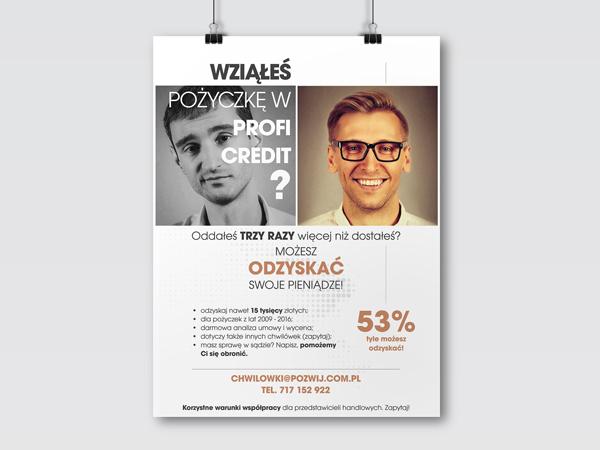 Projekt plakatu dla pozwij.com.pl