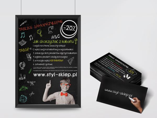 Projekt plakatu i kuponu rabatowego SSW