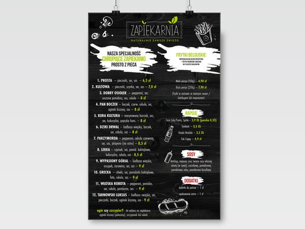 Projekt menu Zapiekarnia