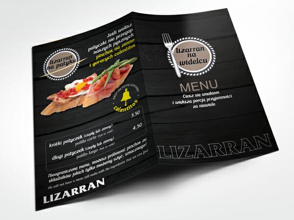 Projekt menu Lizarran
