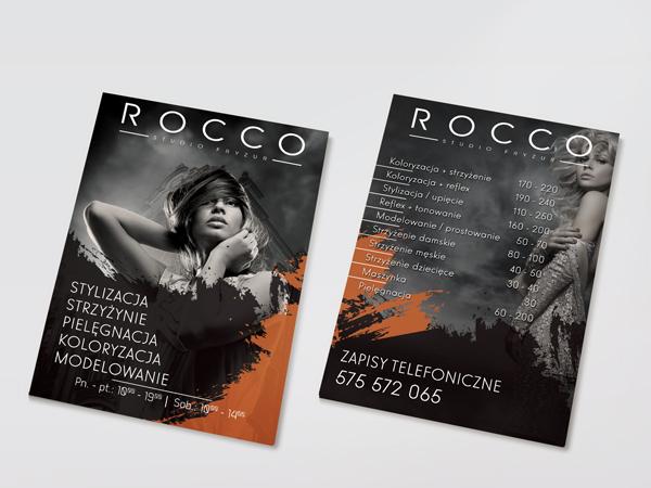 Projekt ulotki Rocco