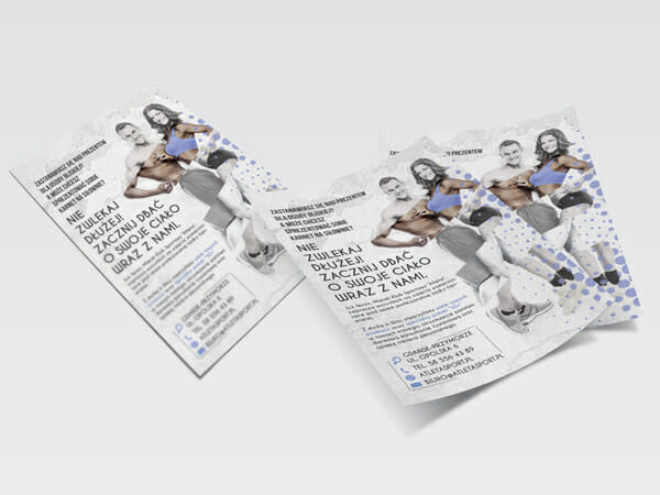 Projekt ulotki dla Klubu Atleta
