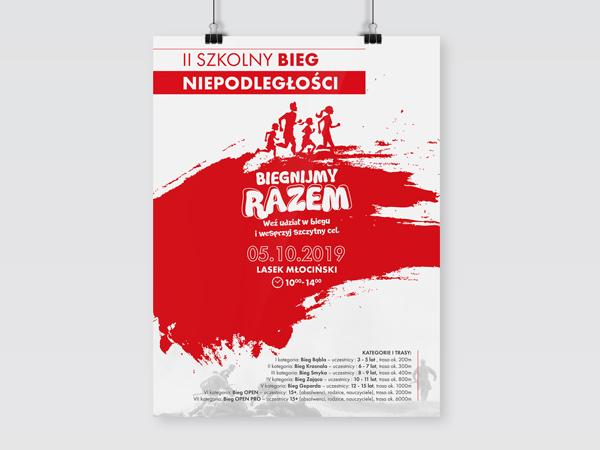 Projekt plakatu – Bieg Niepodległości