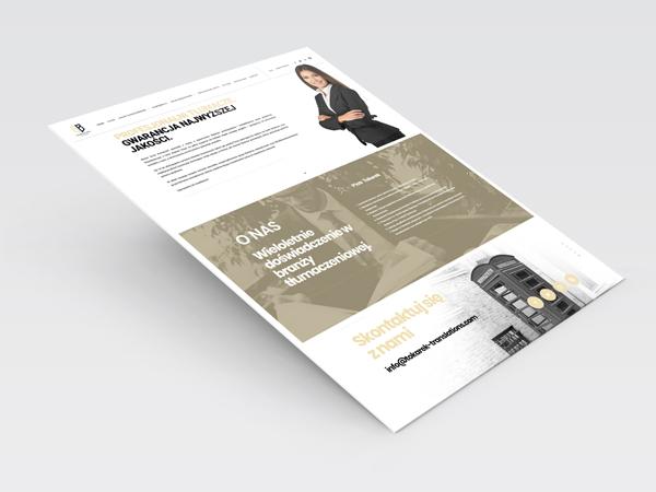 Strona internetowa dla biura tłumaczeń Tokarek&Bulanda
